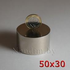Неодимовый магнит 50х30 купить в Минске