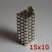 Неодимовый магнит 15х10