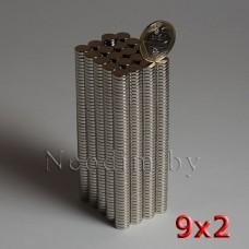 Неодимовый Магнит 9х2