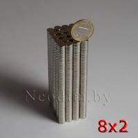 Неодимовый магнит 8х2